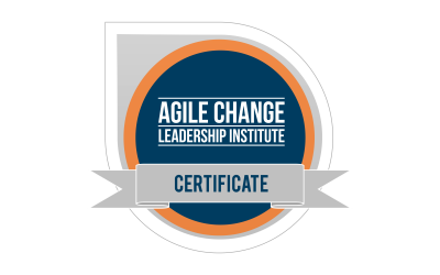 Agile Change Leadership Certificate is live